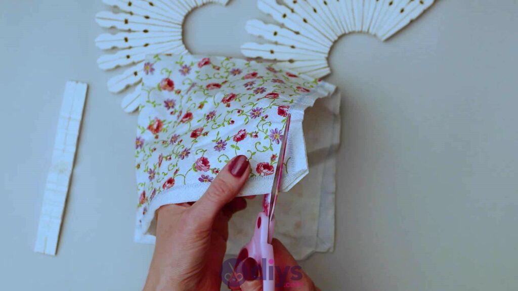 Diy clothespin napkin holder step 9