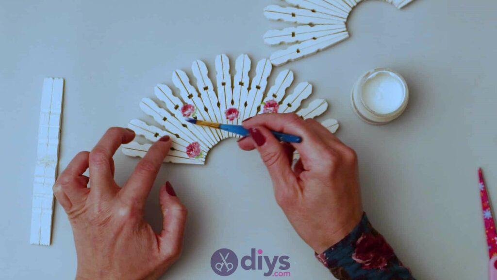 Diy clothespin napkin holder step 9e