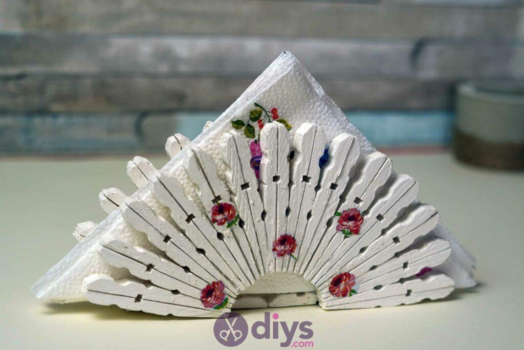 Diy clothespin napkin holder top
