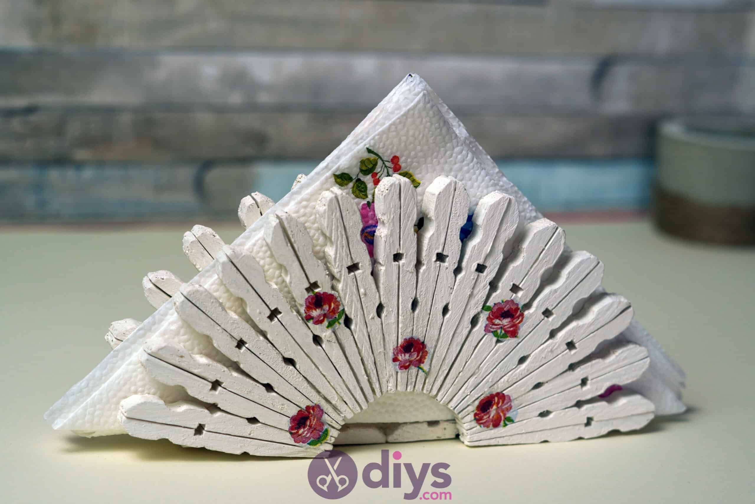 Diy clothespin napkin holder top