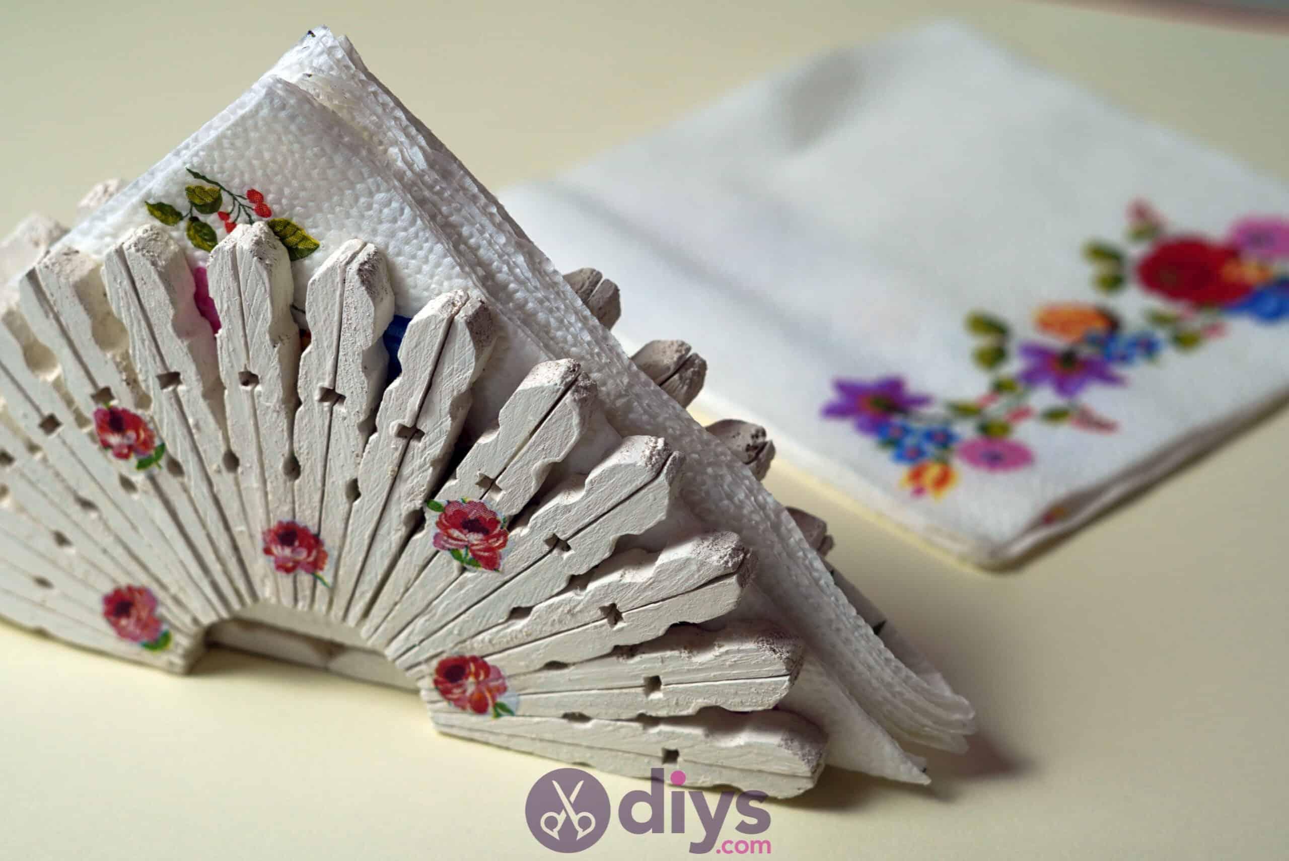 Diy clothespin napkin holder
