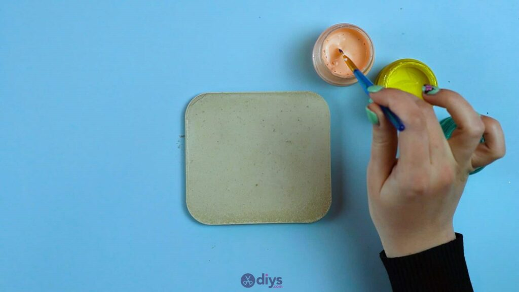 Diy colorful concrete coasters 5