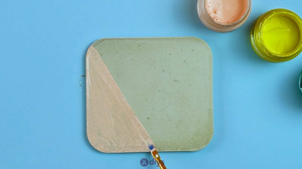 Diy colorful concrete coasters 5d