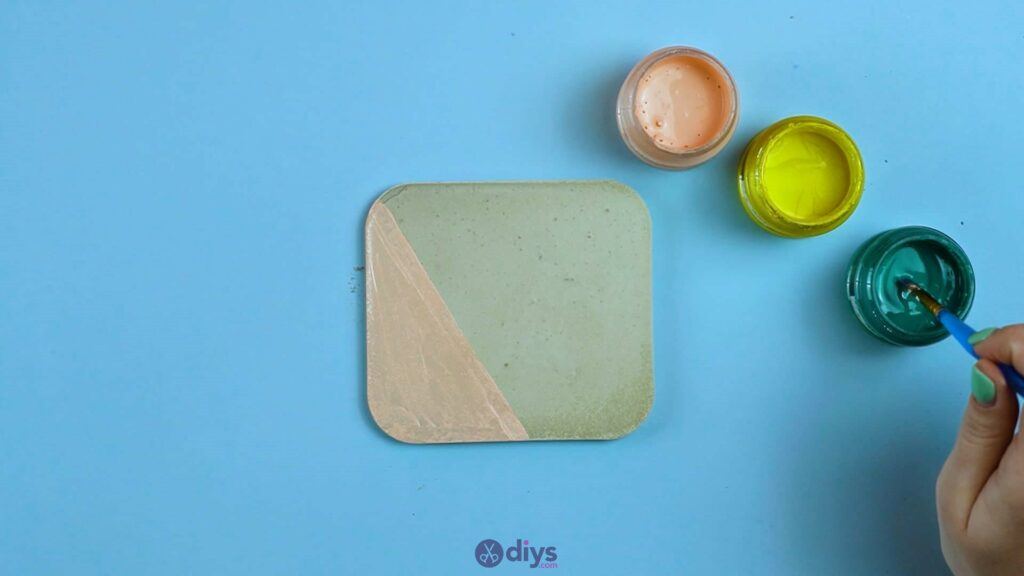 Diy colorful concrete coasters 5e