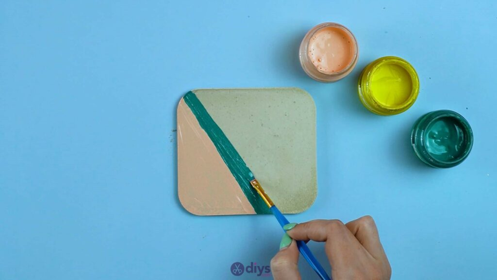 Diy colorful concrete coasters 5h