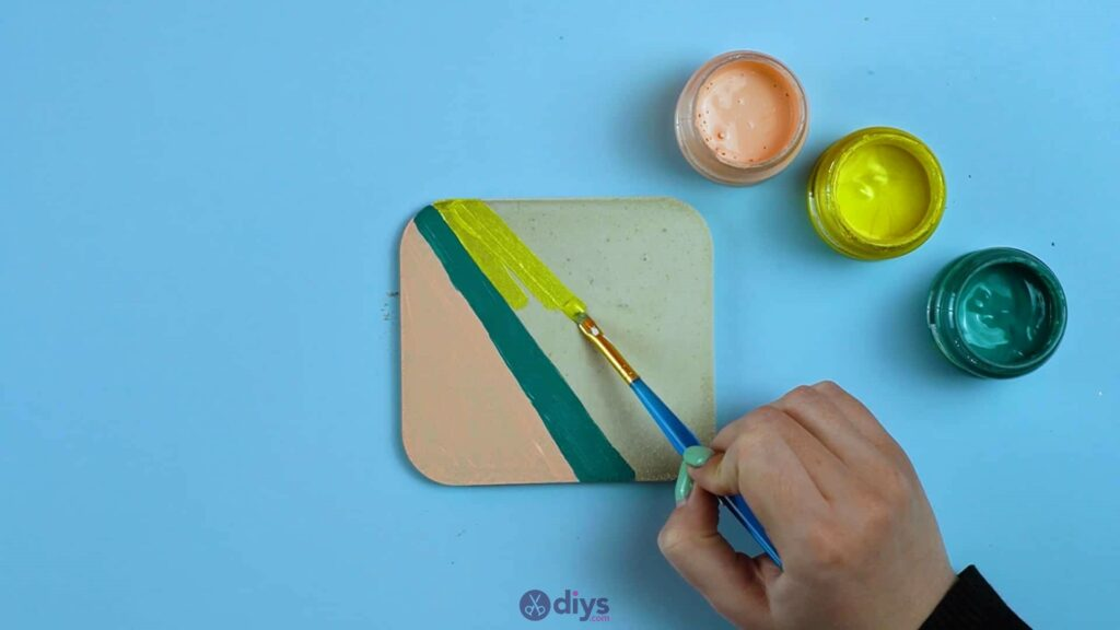 Diy colorful concrete coasters 5j