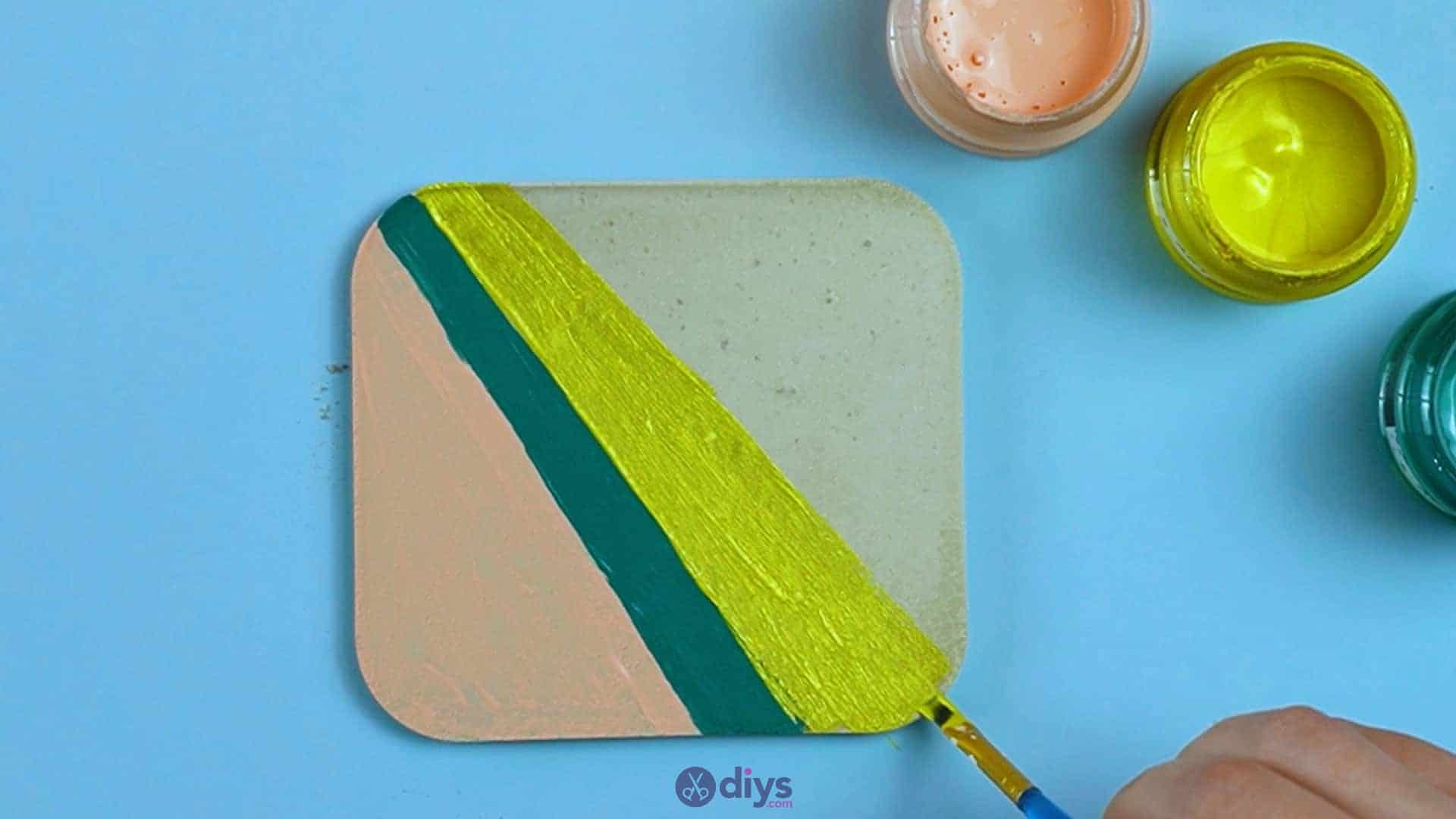 Diy colorful concrete coasters 5l