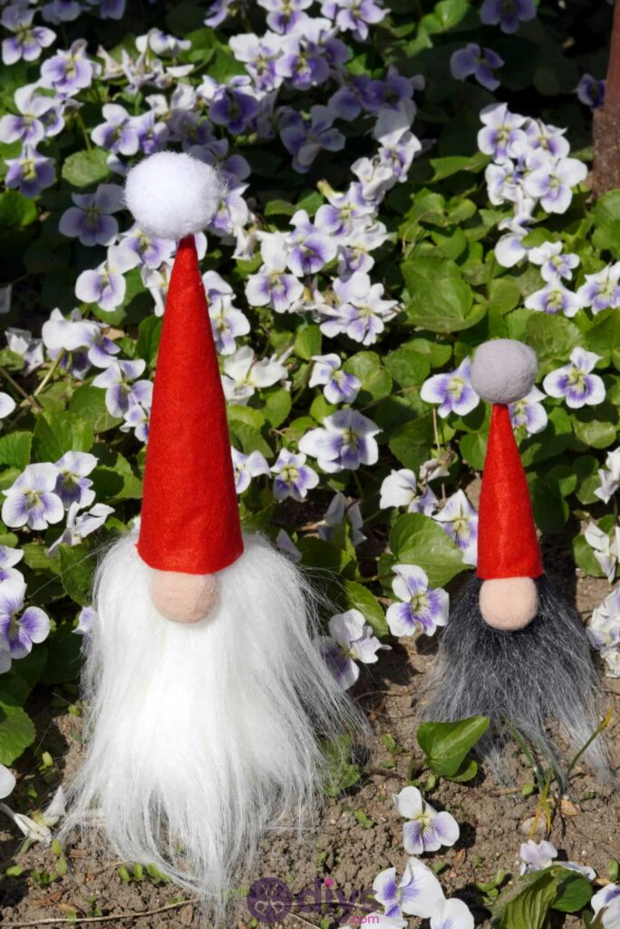 Diy concrete garden gnomes step 10e