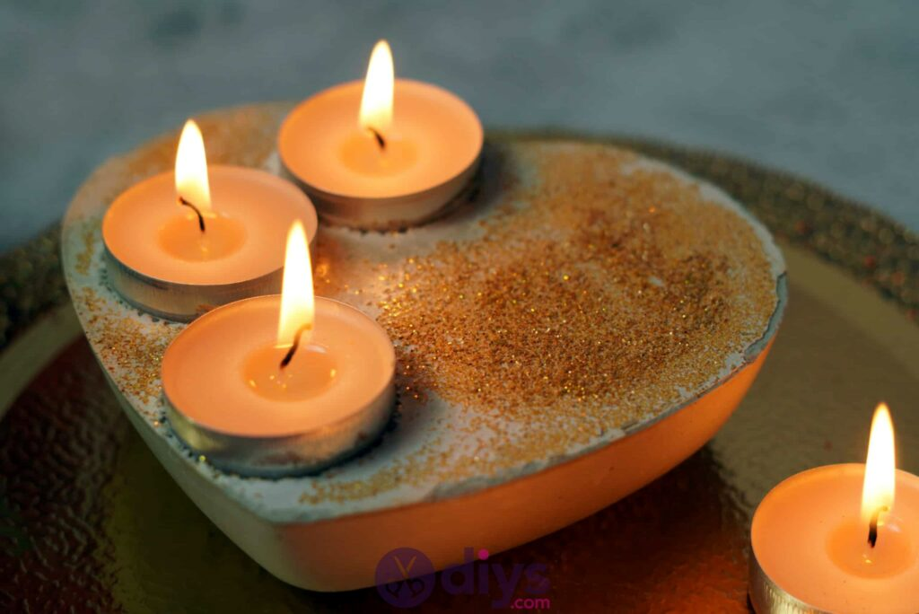Diy concrete heart candle holder simple craft