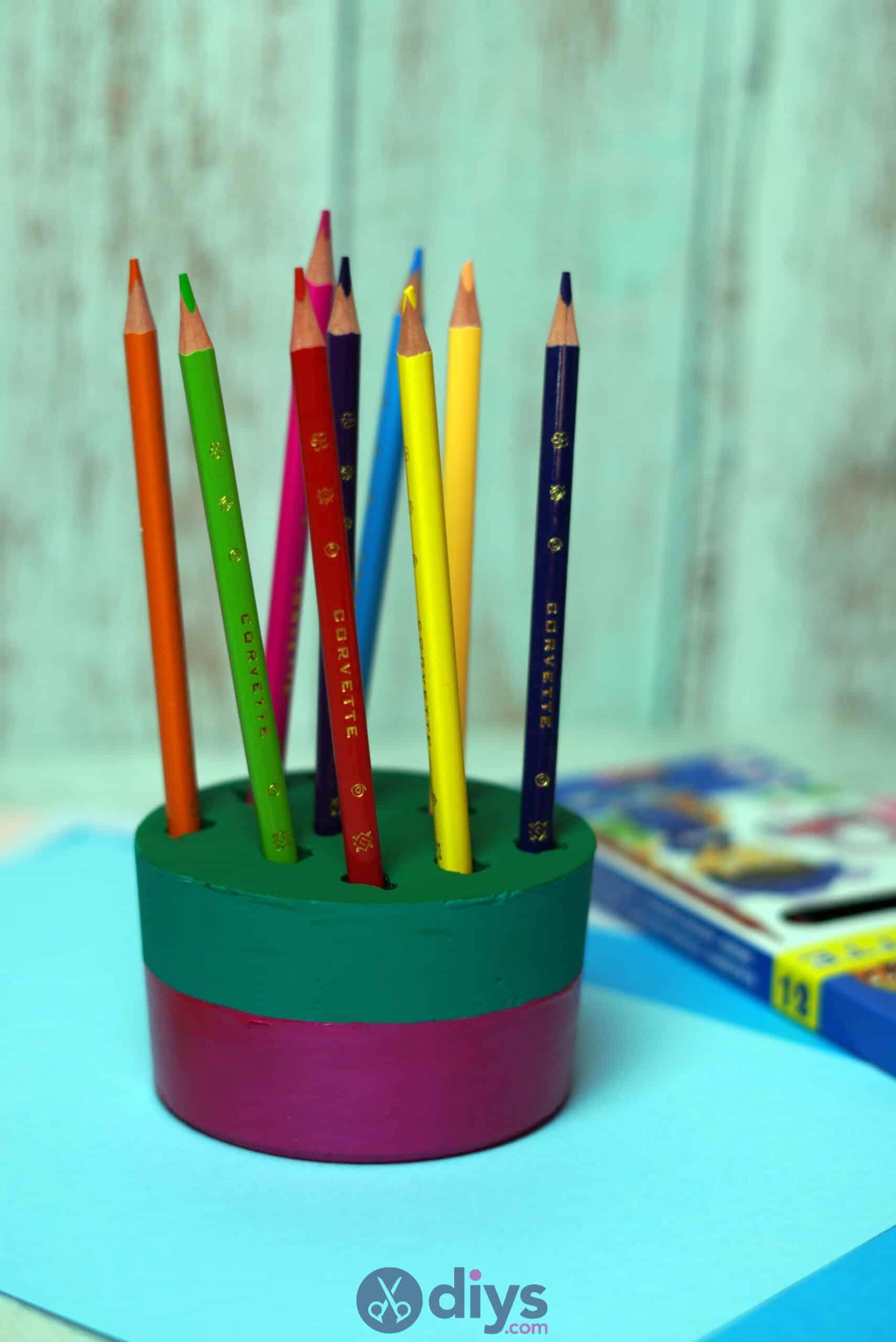 Diy concrete pencil holder back to school
