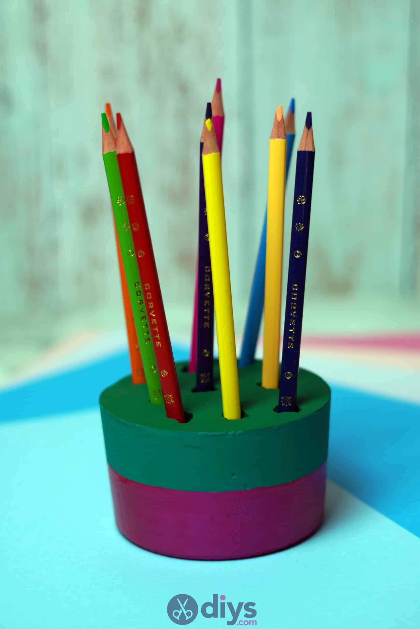Diy concrete pencil holder simple craft