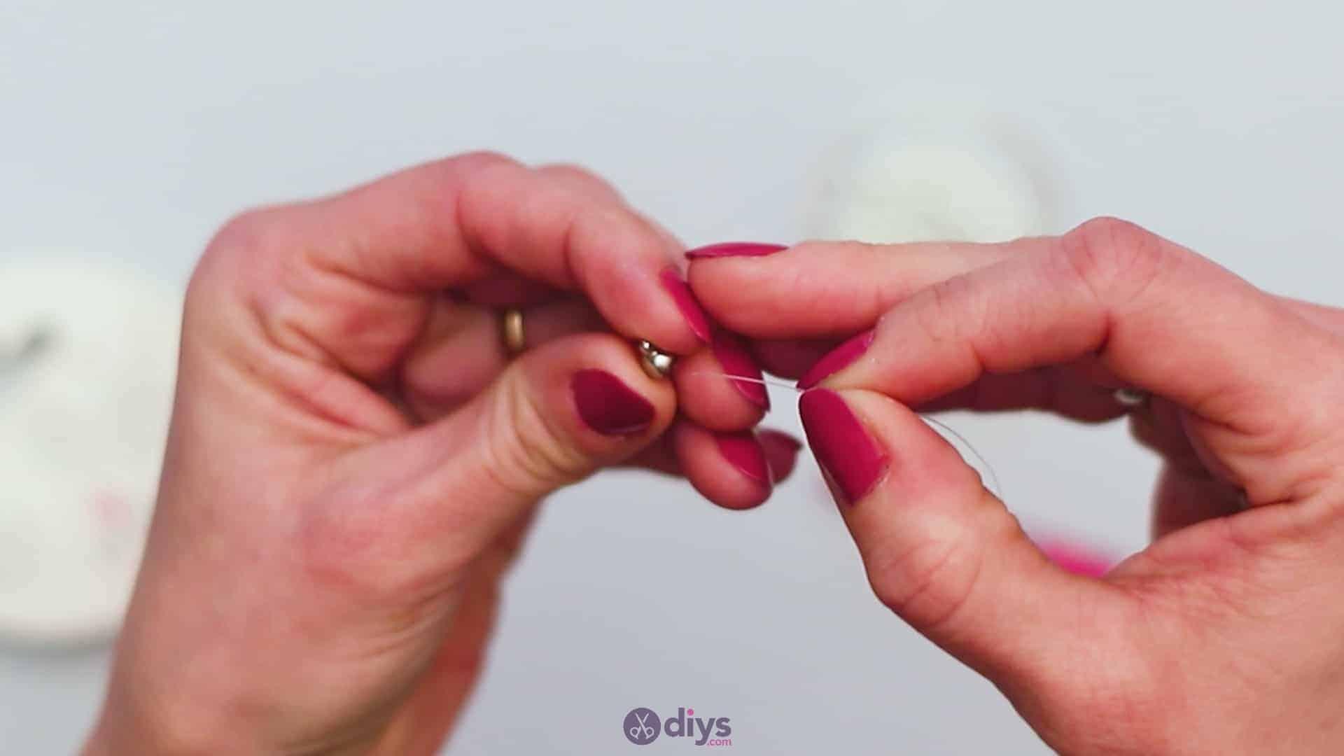 Diy elegant white beads bracelet step 1b