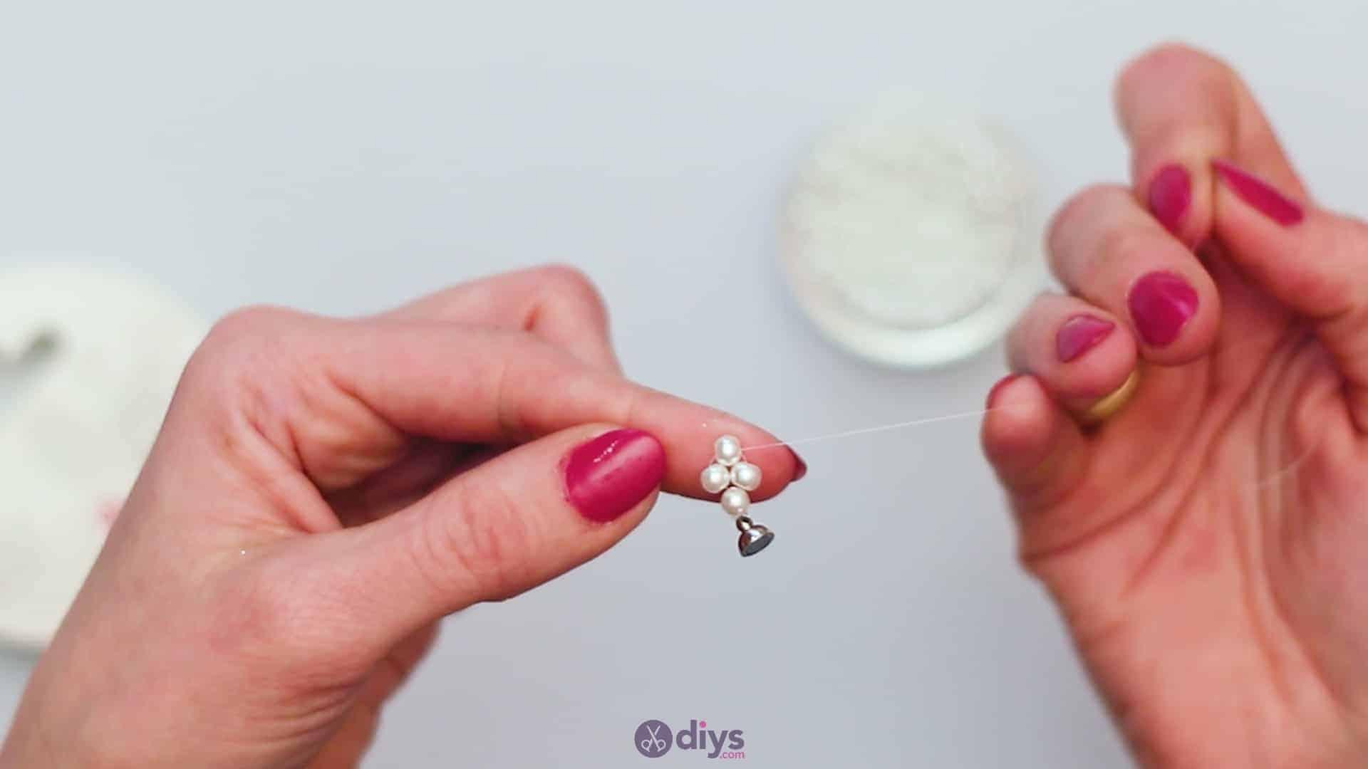 Diy elegant white beads bracelet step 2e