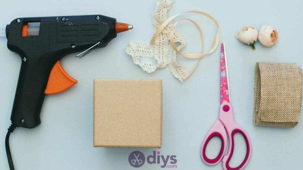 Diy jute gift box materials