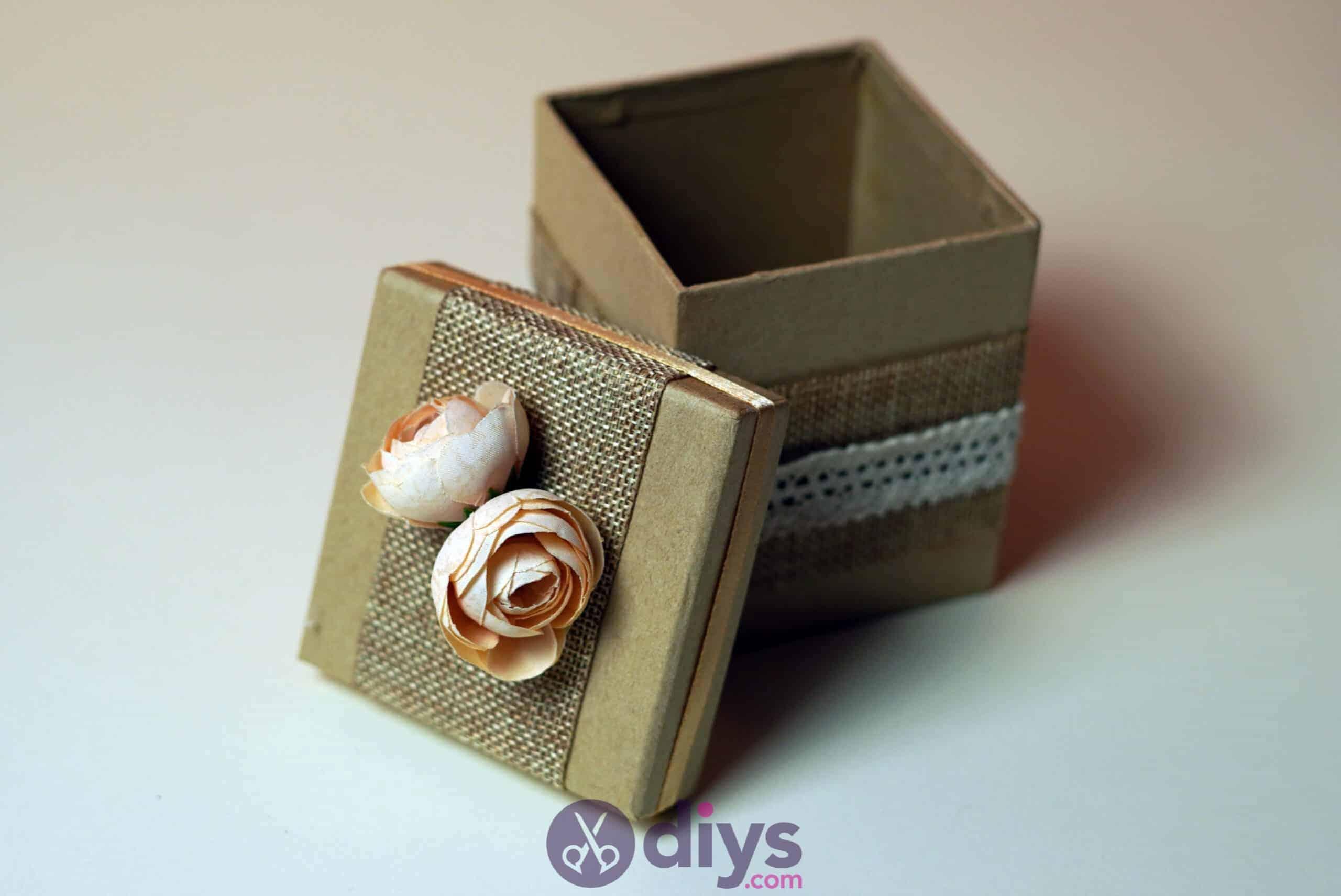 Diy jute gift box project