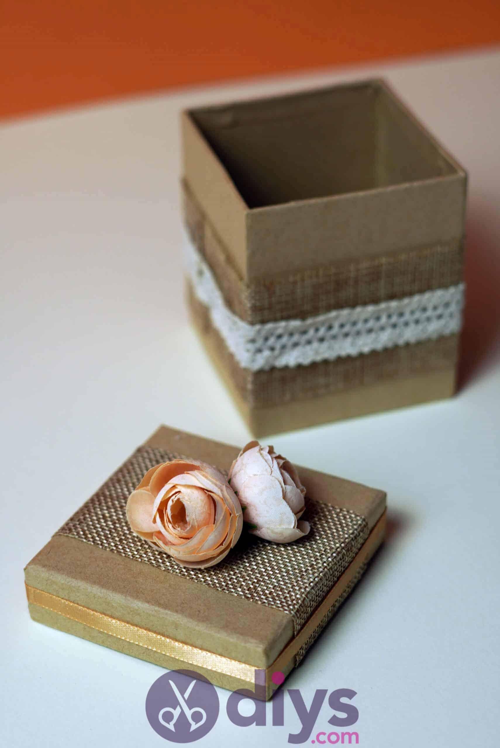 Diy jute gift box simple project