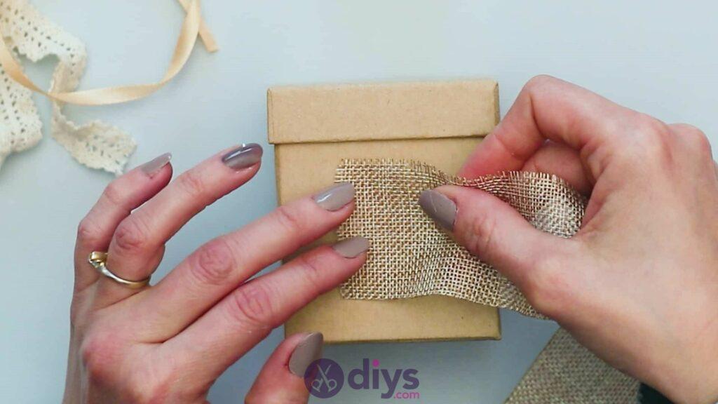 Diy jute gift box step 2a
