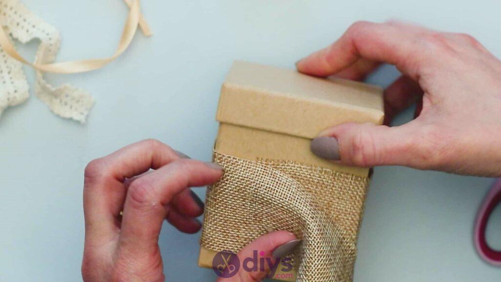Diy jute gift box step 2c