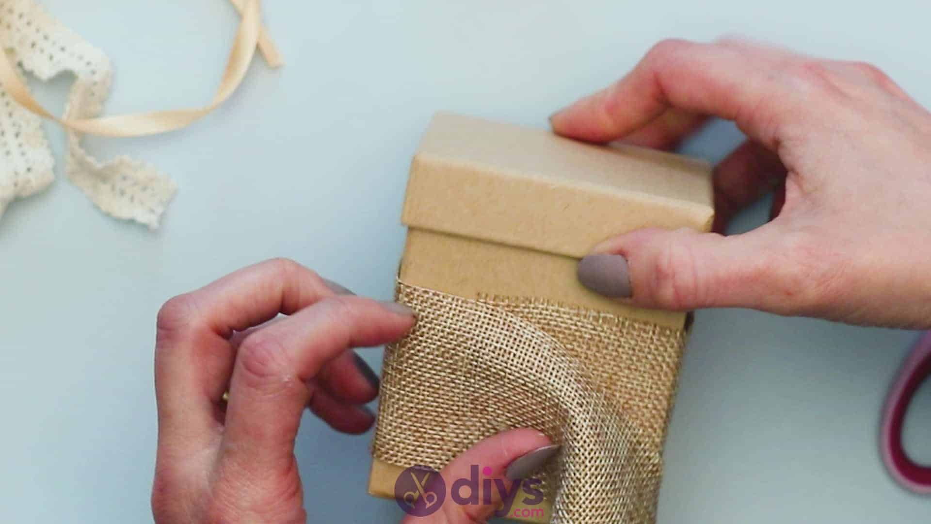 Diy jute gift box step 2c