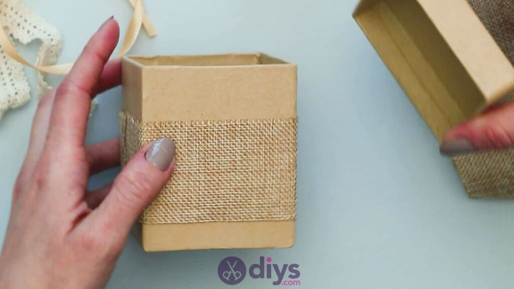 Diy jute gift box step 2j