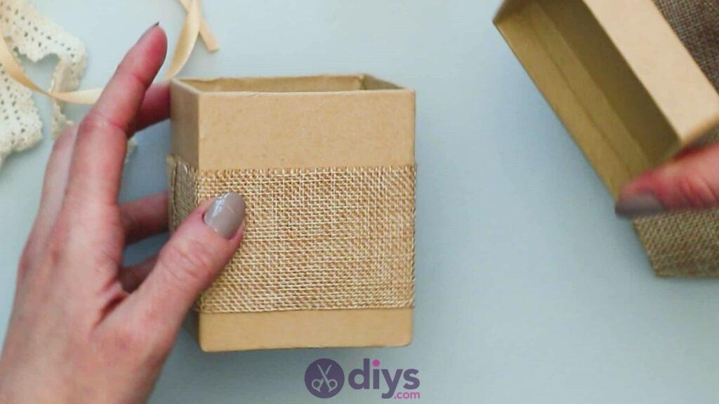 Diy jute gift box step 2j