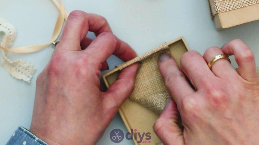 Diy jute gift box step 3d