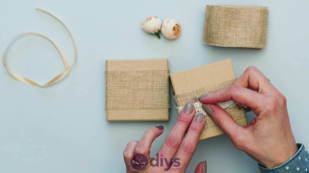 Diy jute gift box step 3j
