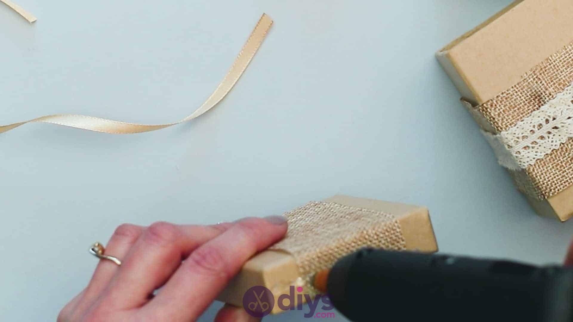 Diy jute gift box step 5