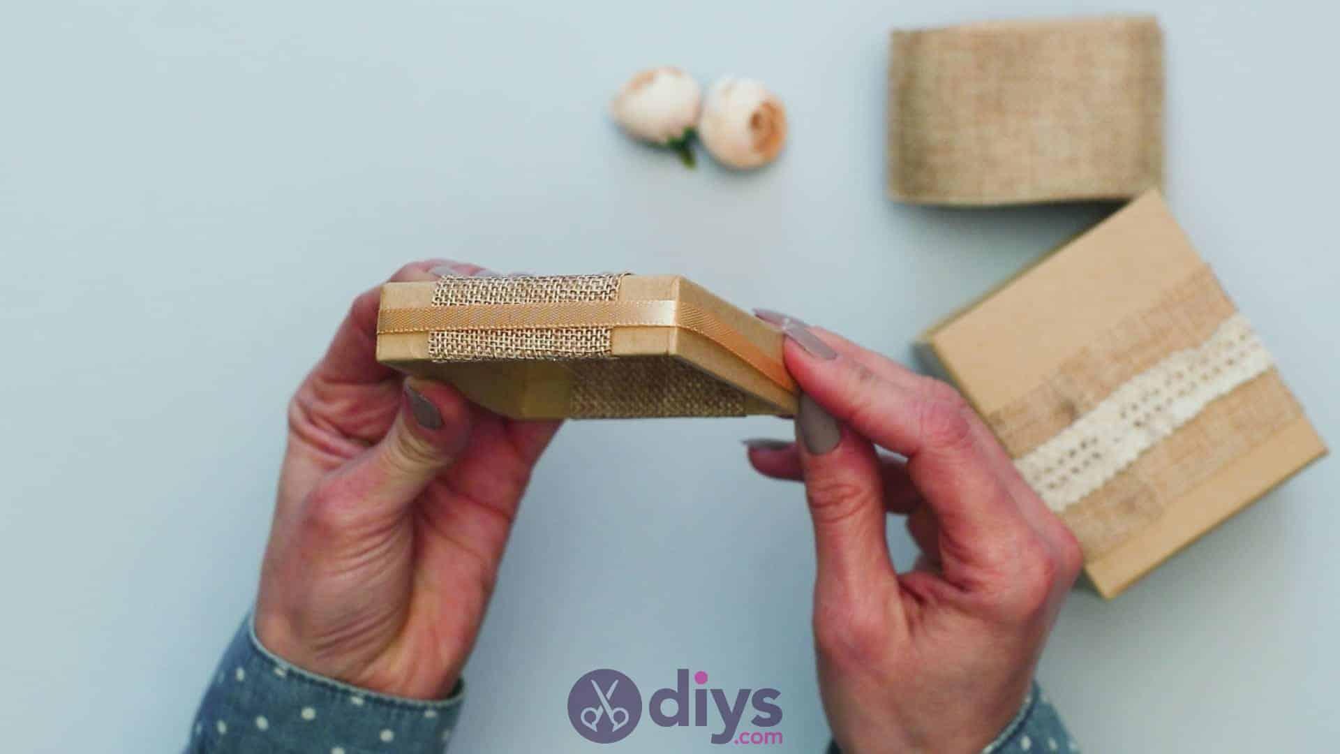 Diy jute gift box step 5b