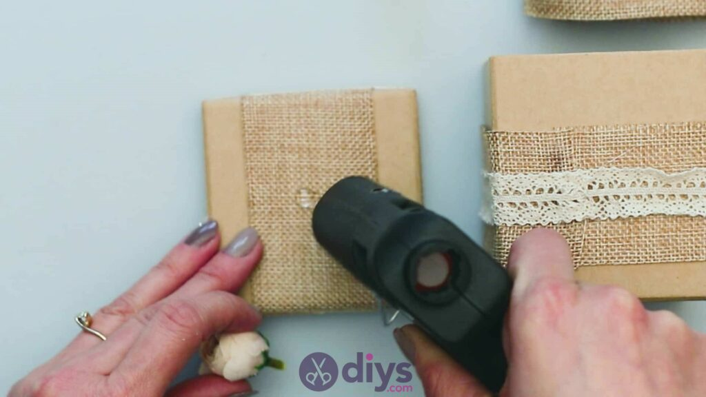 Diy jute gift box step 6