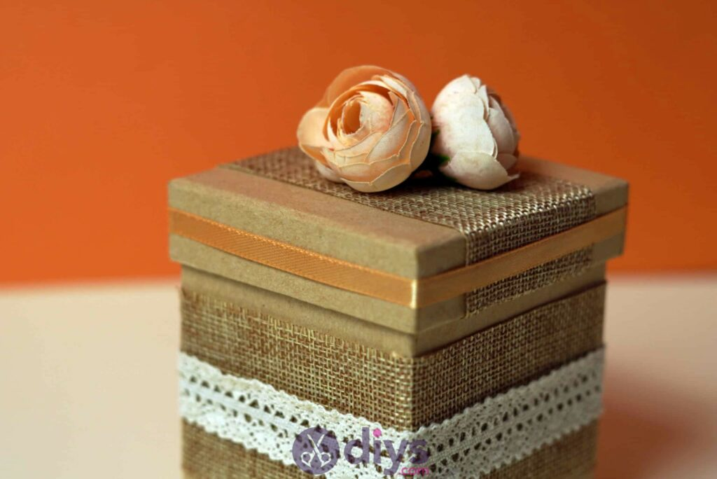 Diy jute gift box step 6d