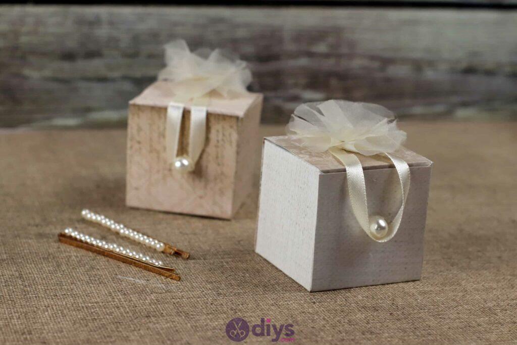 Diy mini wedding gift box simple project
