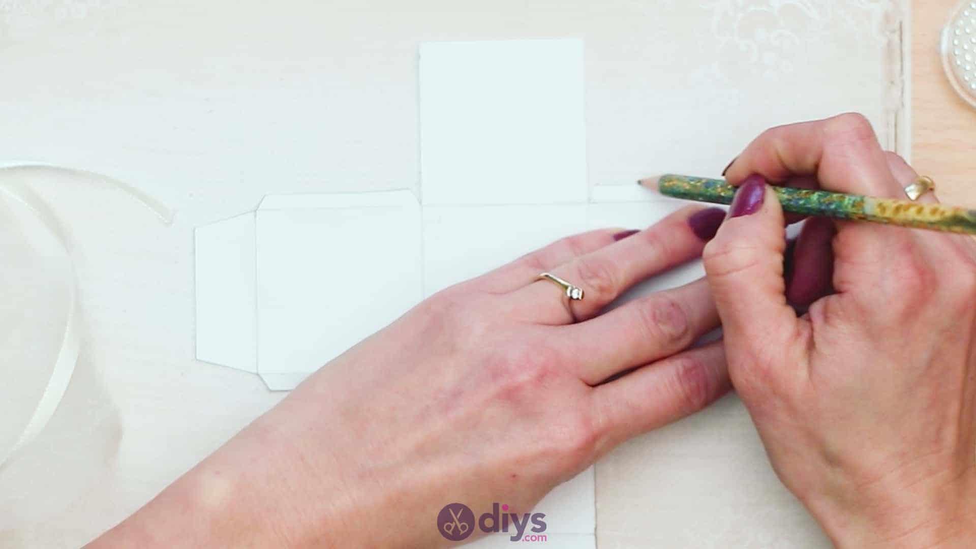 Diy mini wedding gift box step 2b