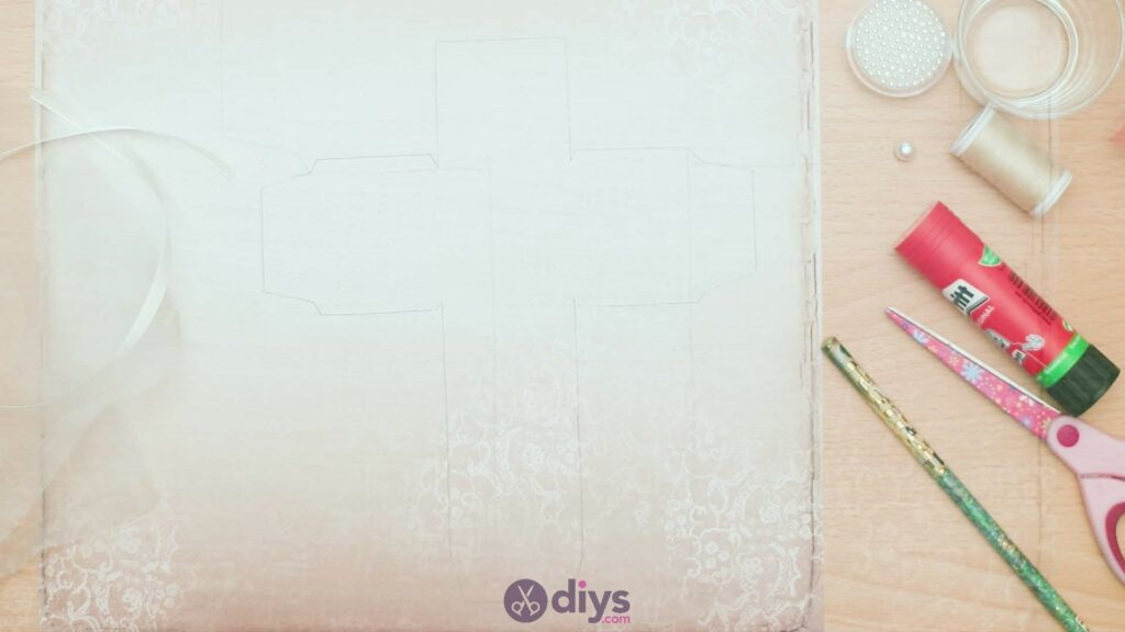 Diy mini wedding gift box step 2e