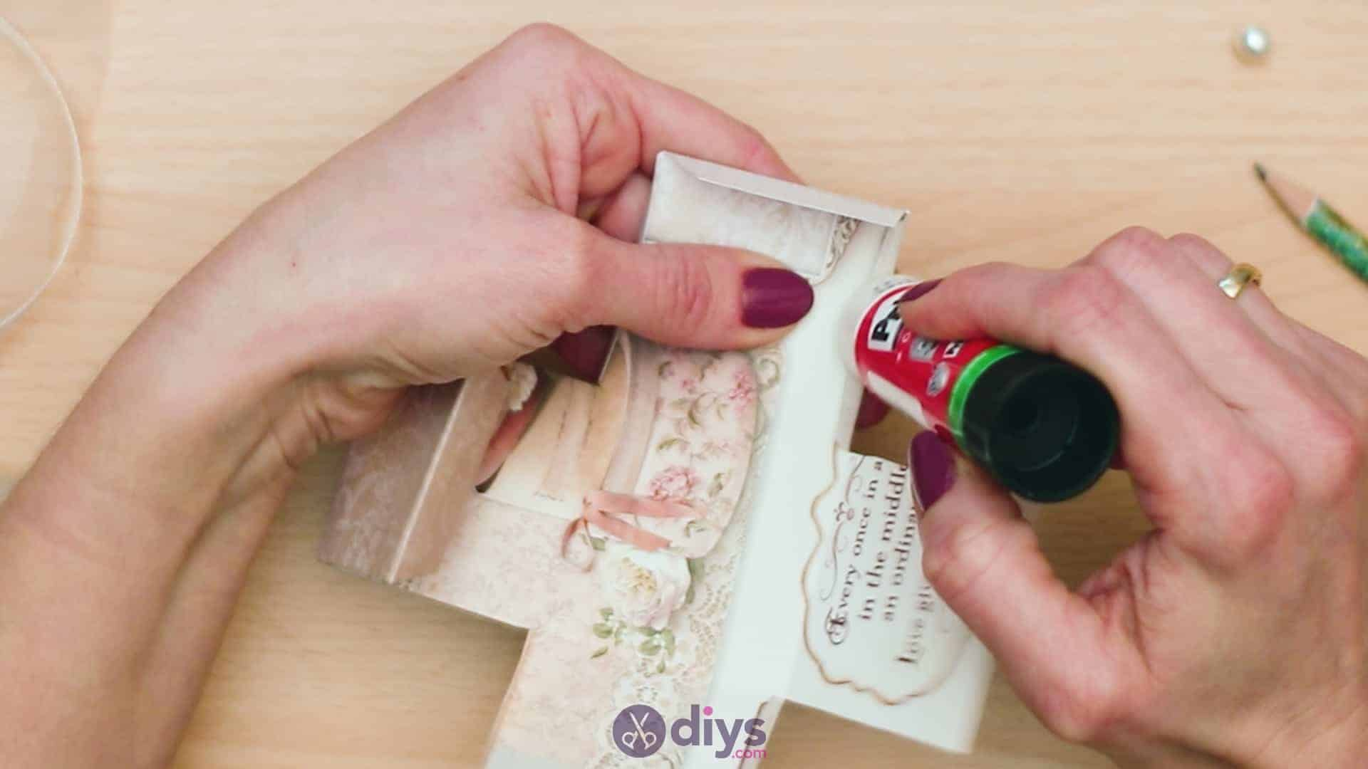 Diy mini wedding gift box step 6