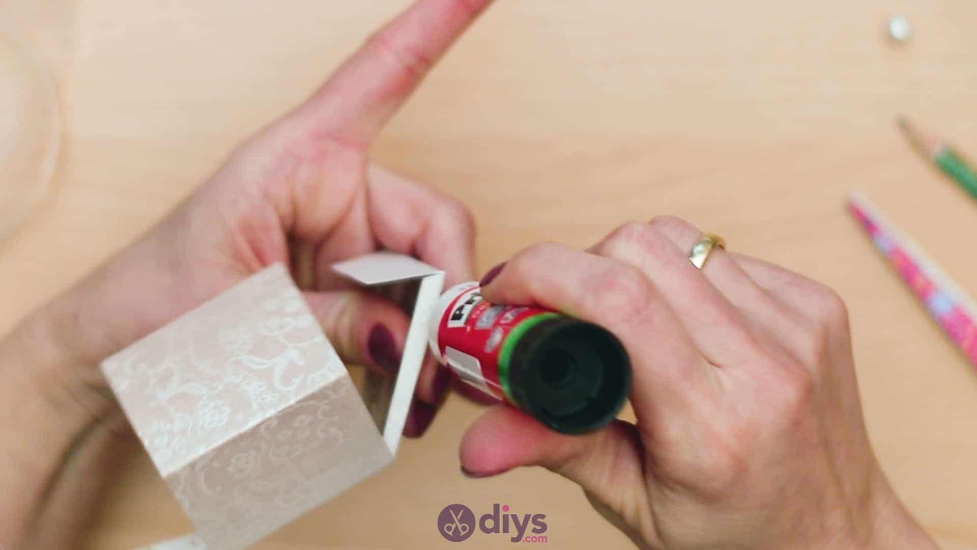 Diy mini wedding gift box step 6a
