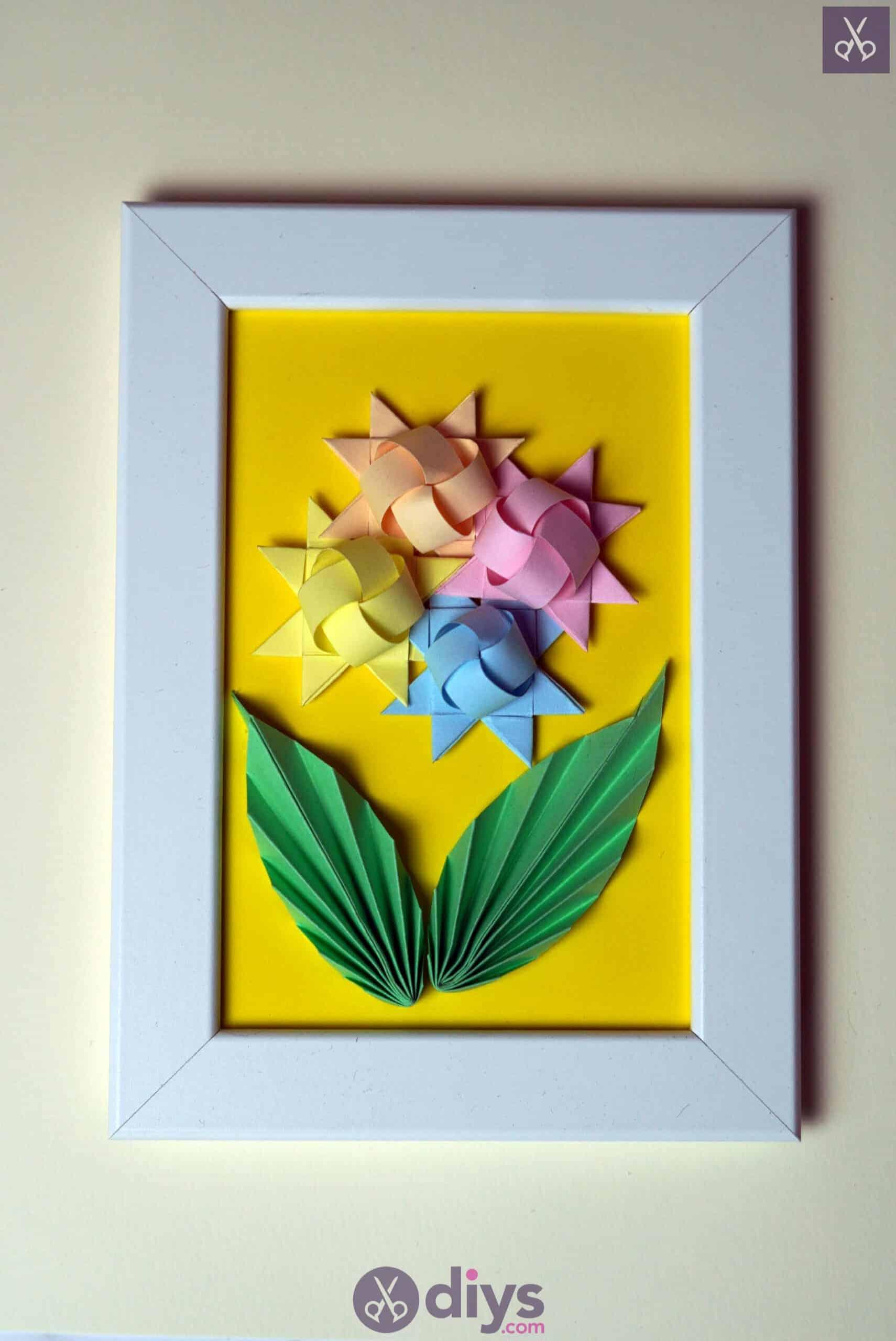 Diy origami flower art colorful