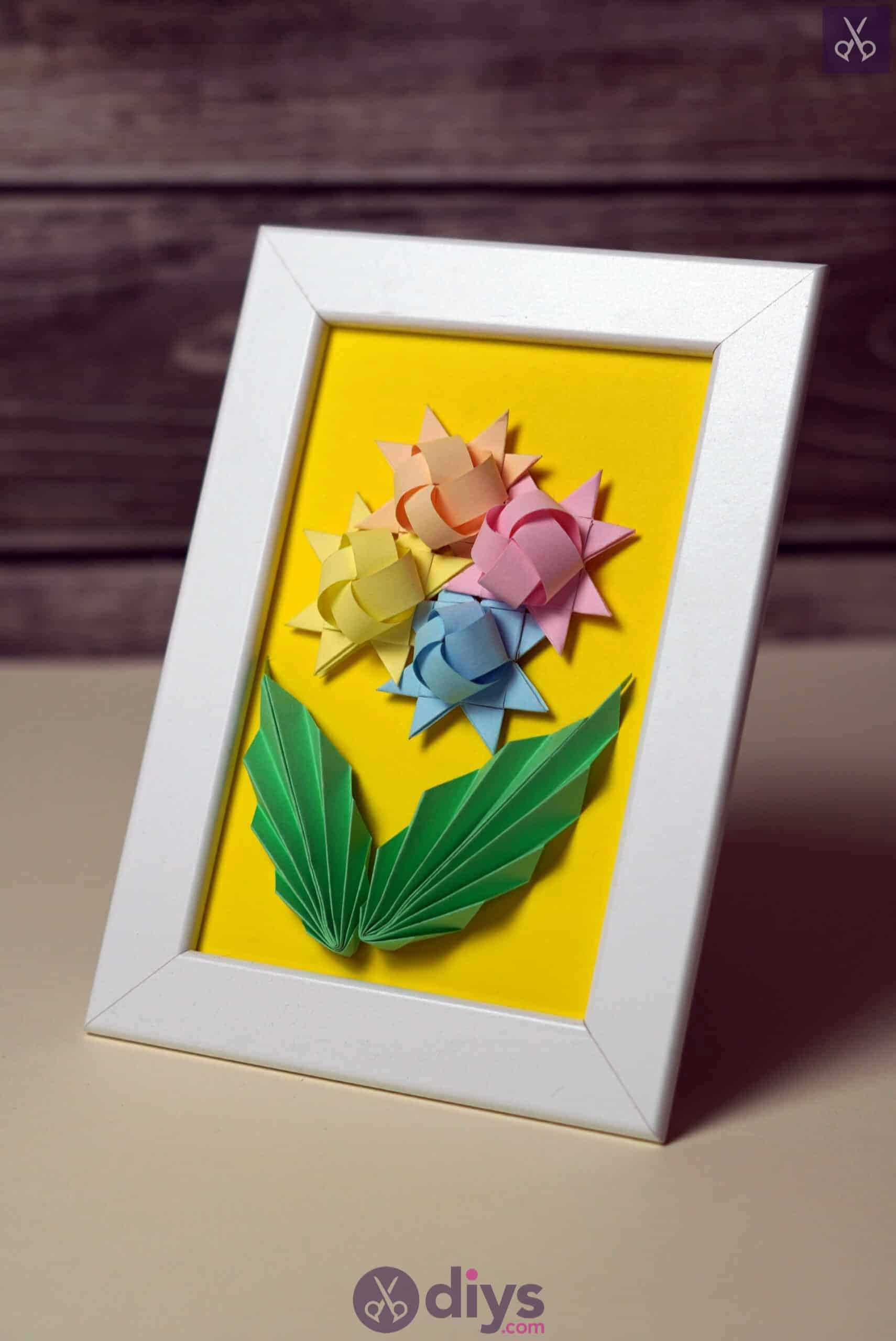 Diy origami flower art projecty