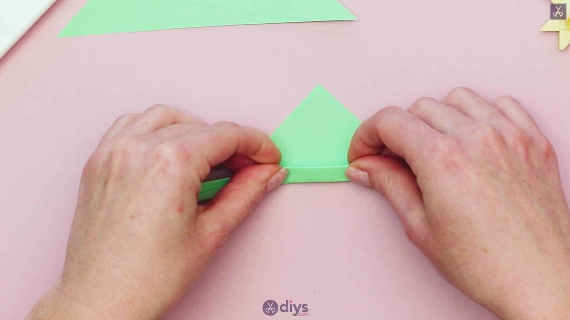 Diy origami flower art step 10