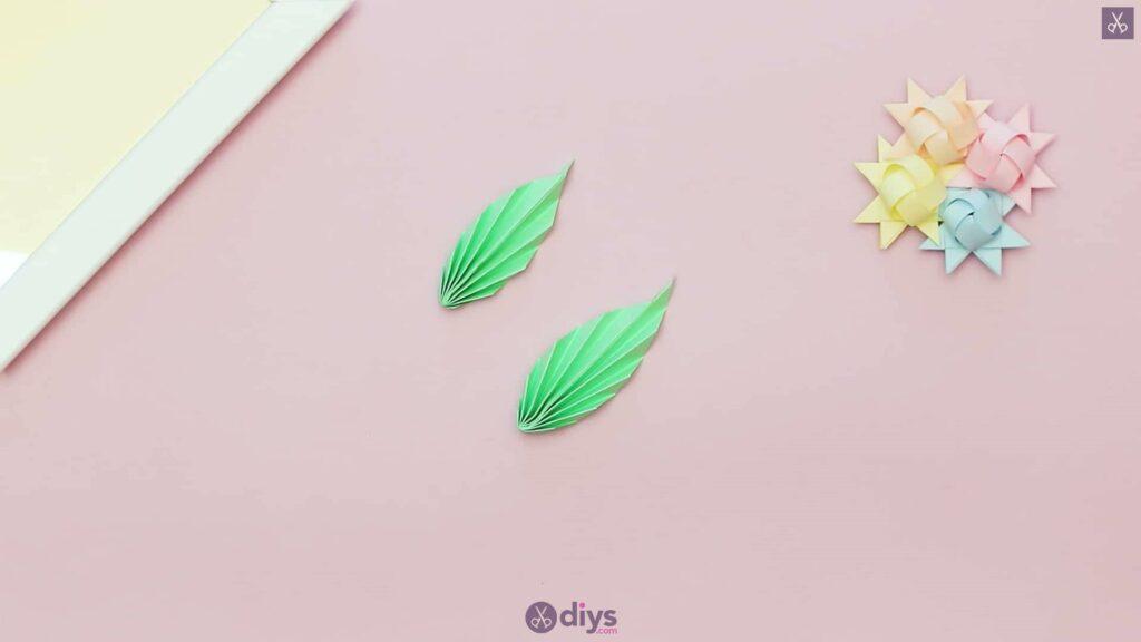 Diy origami flower art step 11f