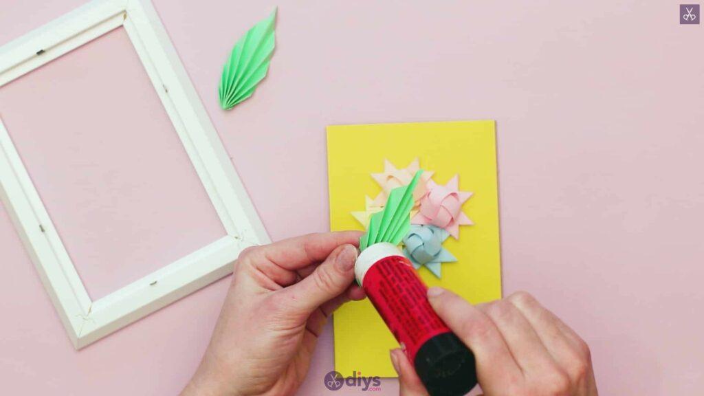 Diy origami flower art step 12r