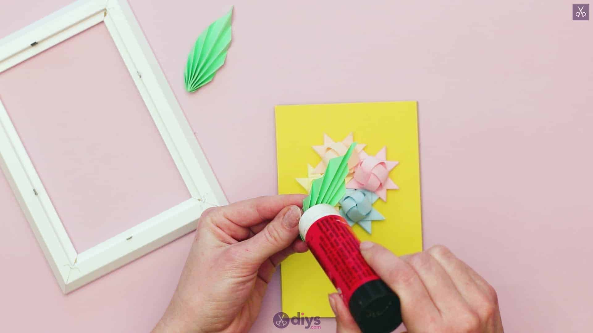 Diy origami flower art step 12r