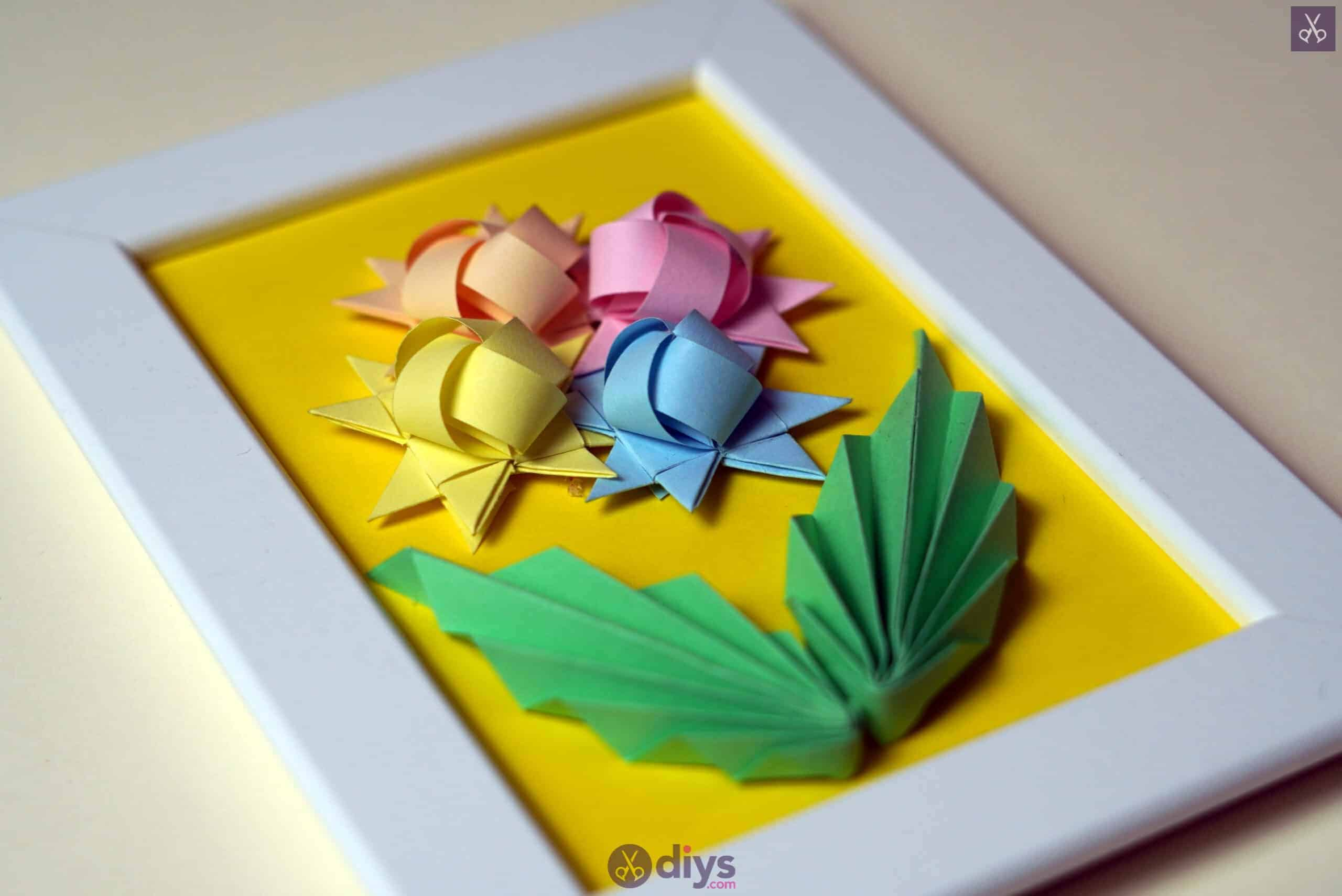 Diy origami flower art step 12ro