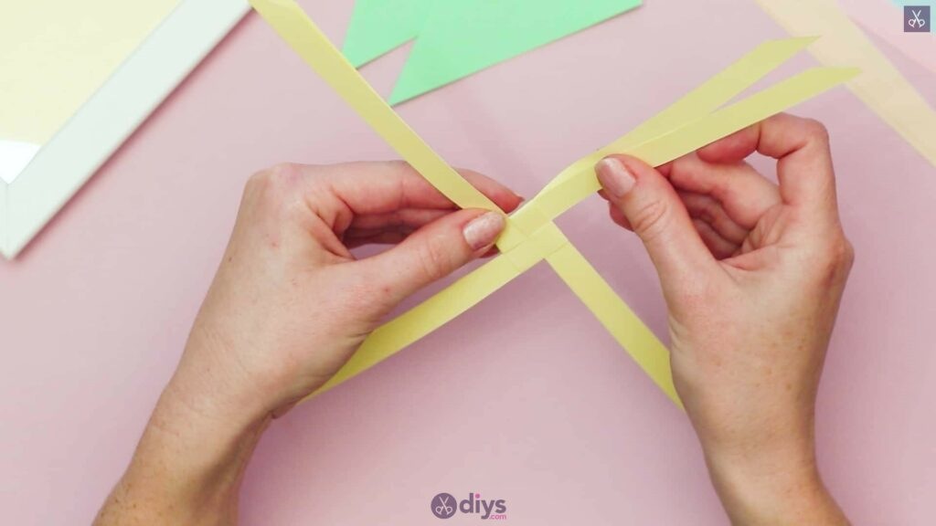 Diy origami flower art step 3d
