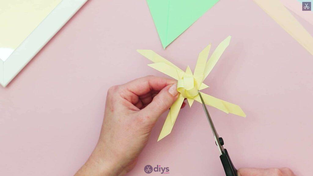 Diy origami flower art step 8