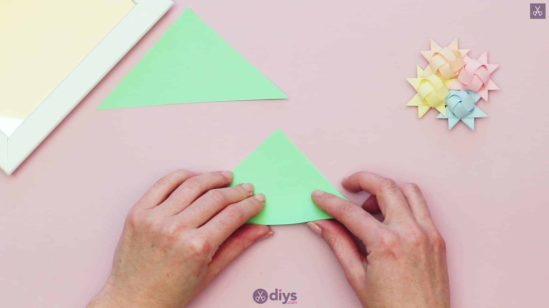 Diy origami flower art step 910