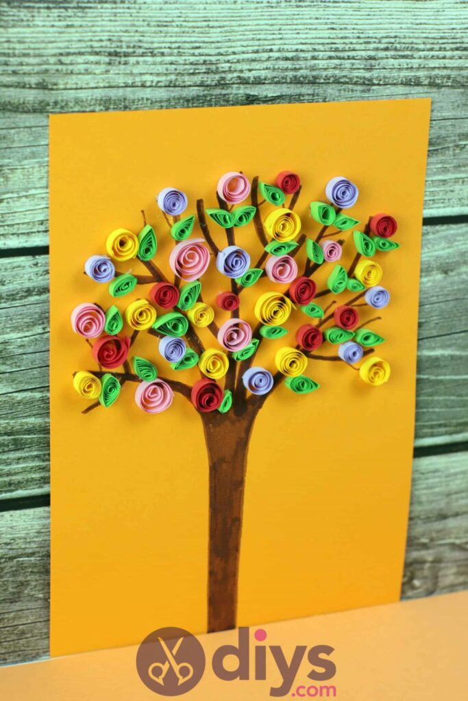 Diy paper spring tree