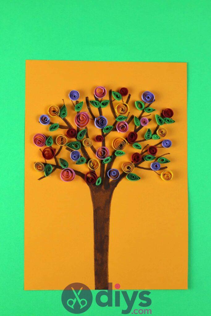 Diy paper spring tree for kids