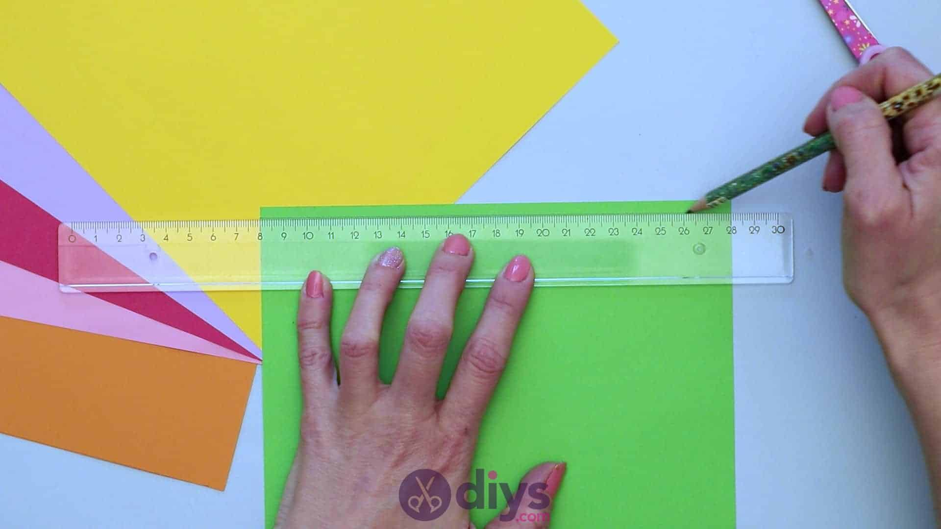 Diy paper spring tree step 2