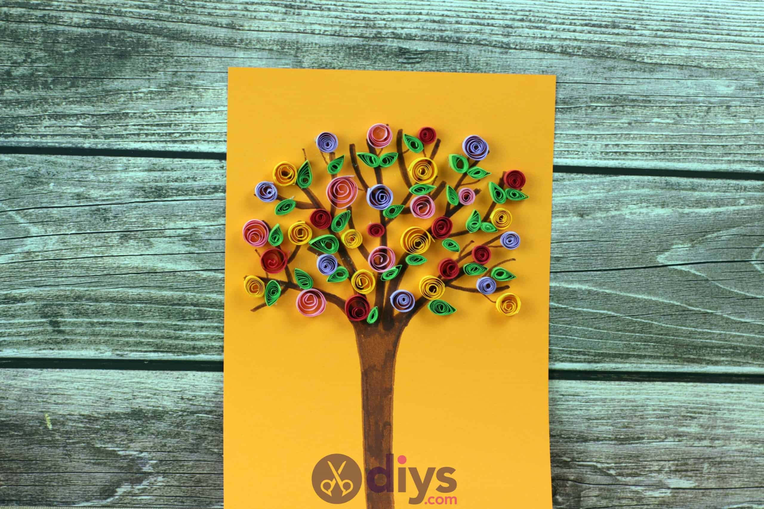 Diy paper spring tree step 5 fispld